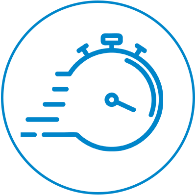 icon speedy stopwatch ws blue with circle