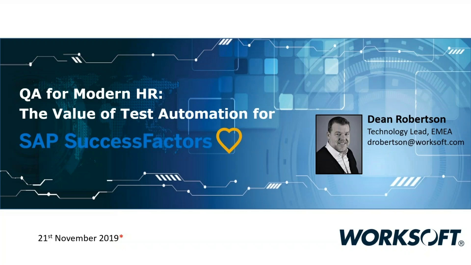 QA for Modern HR: The Value of Test Automation for SAP Success Factors